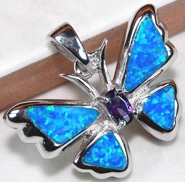 amethyst australian opal inlay 925 solid sterling silver