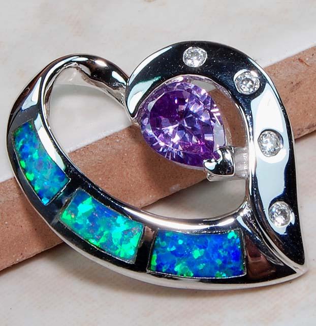 amethyst australian opal inlay topaz 925 solid genuine